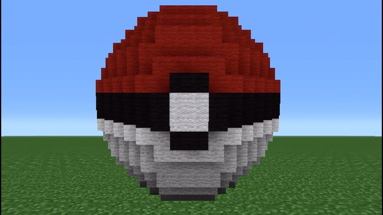 How To Build A D Pokeball In Minecraft