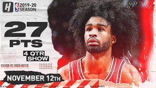 Coby White CRAZY Full Highlights vs Knicks (2019.11.12) - 27 Points, 7 Threes!