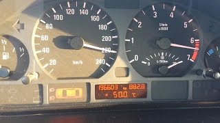 BMW 320i E46 0-Vmax Acceleration