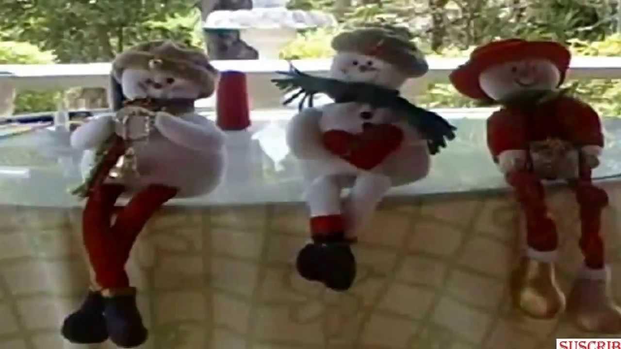 Adornos de navidad mu eco de nieve youtube - Manualidades munecos de navidad ...
