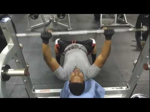 Doing Some Strength Training on the Bench Press 7-15-12 Image 1