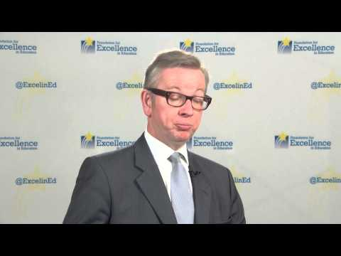 Highlight from backstage interview with Hon. Michael Gove #EIE13