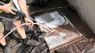 DIY wet blasting steel