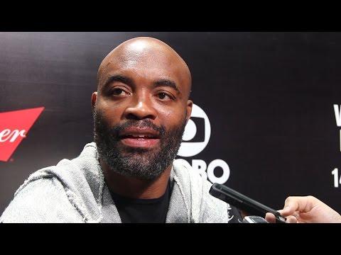 Anderson Silva UFC 198 Media Scrum