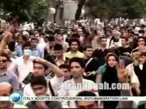 Islamic Iran state-own propaganda about recent protests in Iran
