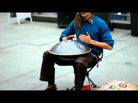 """Amazing"" street performer plays cool instrument!!"