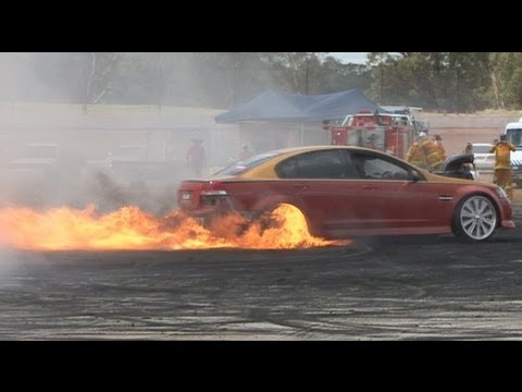UNLOAD flaming burnout at NSW Pro Burnouts 2013