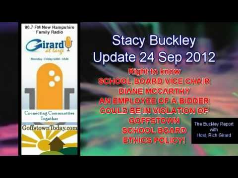 The Buckley Report (24 Sep 2012) Goffstown School Board and SAU#19
