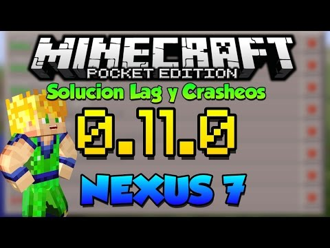 SOLUCION CRASHEOS - MINECRAFT PE 0.11.0 BUILD 1 - NEXUS 7 - CACERIA DE BUGS
