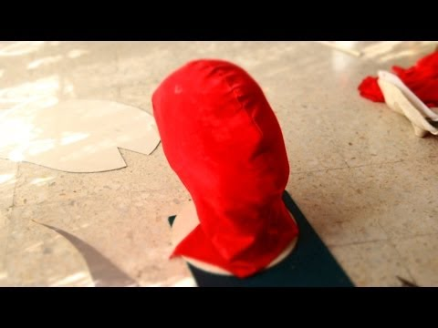 #49: Spiderman Mask DIY Part 1 - Fabric, No Sewing, All Glued | How To | Dali DIY