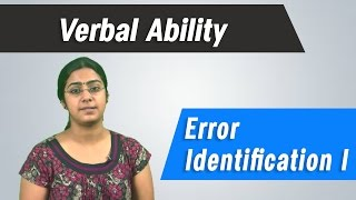 Best  GRE, GMAT, CAT ,IBPS, Competitive Exams Tips- Verbal Ability - Error Identification 1