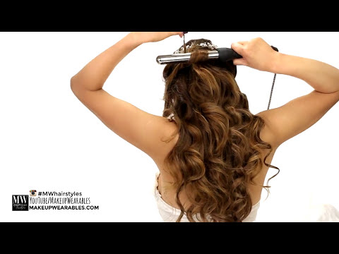 ★ EASY Wedding HAIRSTYLES + CURLS | Romantic Hairstyle for Long Medium Hair