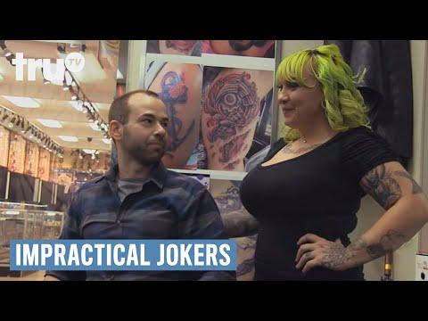 Impractical jokers murr braves the wheel of piercing for Impractical jokers tattoo