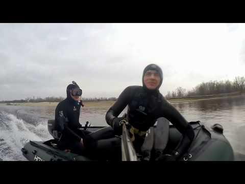 Весенняя подводная охота в Волгограде 2018(март).Супер прозрак!!!