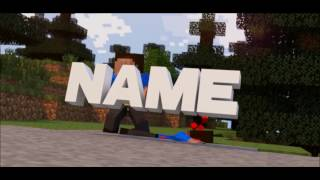 Minecraft Intro Giveaway | Blender/After Effects | By RemoteGFX