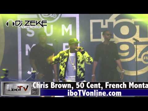 Chris Brown Performs at Summer Jam 2015 bring out 50 Cent and French Montana