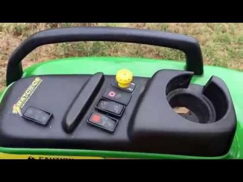 John Deere 4310 with 430 Loader and 5 Foot Frontier Finish Mower For Sale