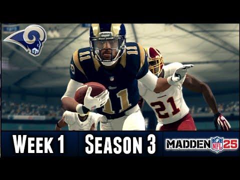 Madden 25 Rams Connected Franchise: Week 1 vs Redskins (Season 3)