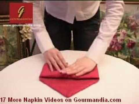 NAPKING FOLDING - PLIAGE SERVIETTES GOURMANDIA.COM