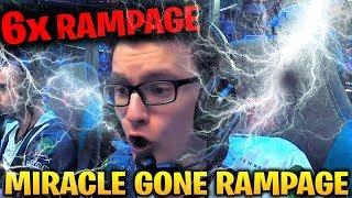 MIRACLE 6x RAMPAGE 2x ULTRAKILL IN 20 MINUTES!!!! Dota 2 7.17