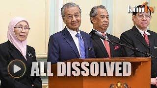 Dr M: Spad, Jasa, JKKKP, Pemandu, NPC all dissolved