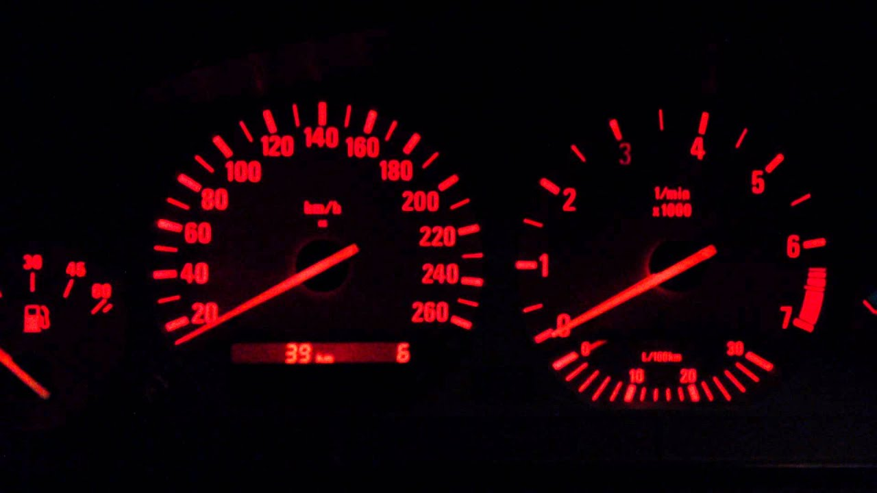 Bmw E36 How To Check Instrument Cluster Youtube