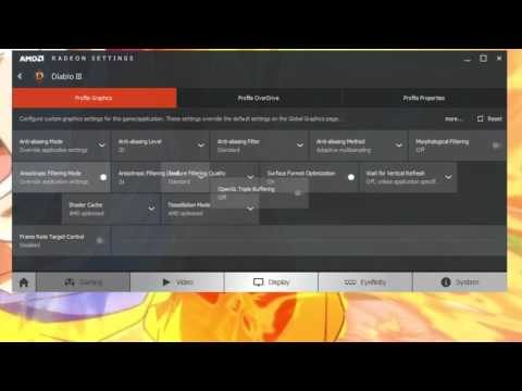 Configurar Catalyst control center para juegos (rendimiento)