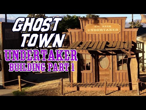 making an old western ghost town undertaker facade part 1