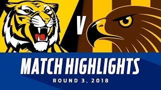 Match Highlights: Richmond v Hawthorn   Round 3, 2018   AFL
