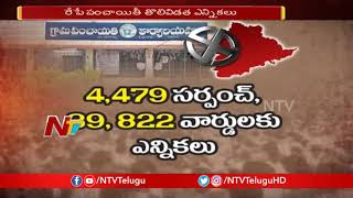 All Arrangements Set For Telangana Gram Panchayat Elections 2019 | Phase 1 | NTV