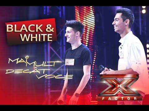 Trupa Black and White compilație muzicală de excepție la X Factor