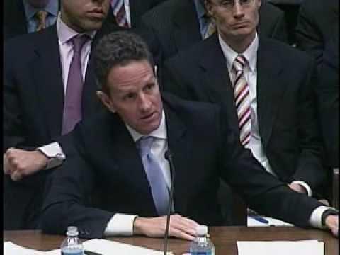 U.S. Rep. Judy Biggert Questions Treasury Sec. Geithner