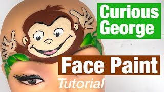Curious George Face Painting Class How to Face Paint a Monkey