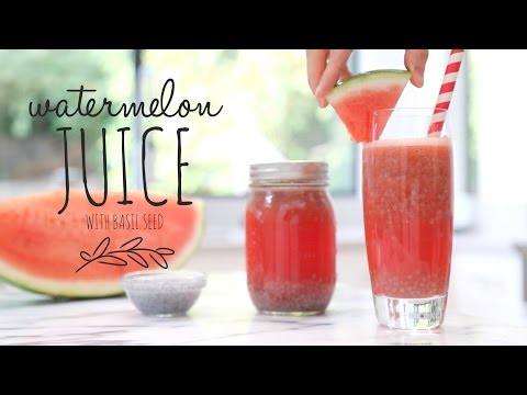 Watermelon Juice with Basil Seeds | Summer Drink Recipe!