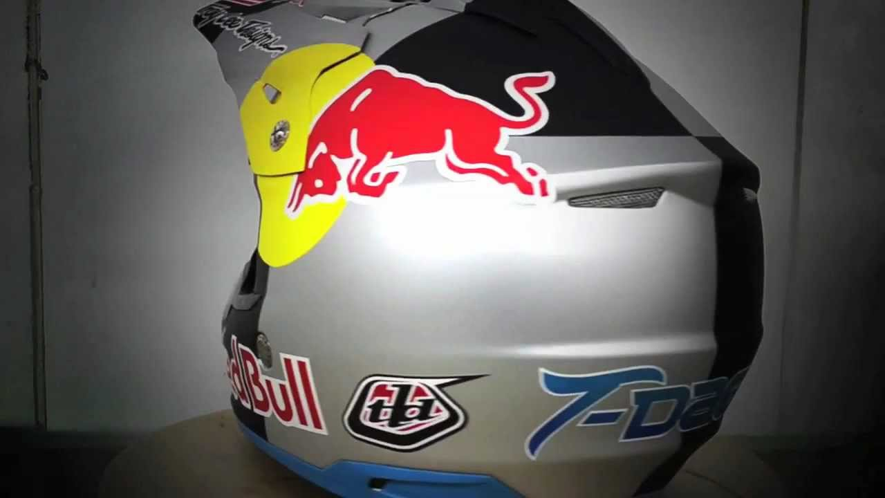 Troy Lee Designs Painting Tyler Medaglia S Red Bull Helmet