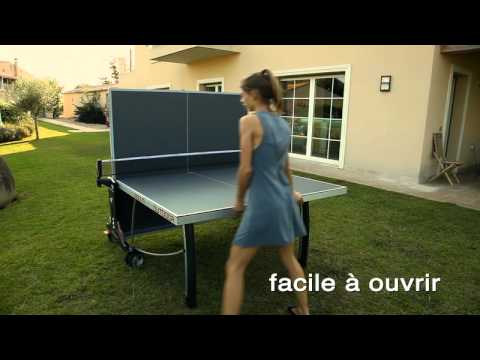 table de ping pong d 39 ext rieur cornilleau sport 300m outdoor youtube. Black Bedroom Furniture Sets. Home Design Ideas