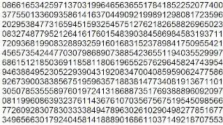 One million digits of  pi  (π)