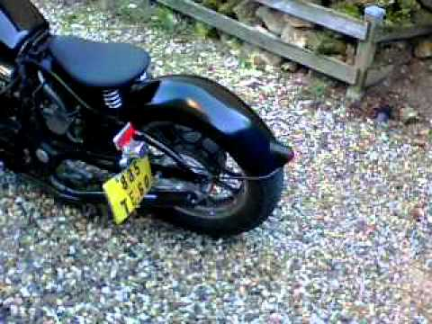 honda custom vf 750 - YouTube