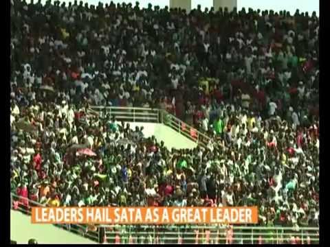 Zambian President Michael Sata Buried