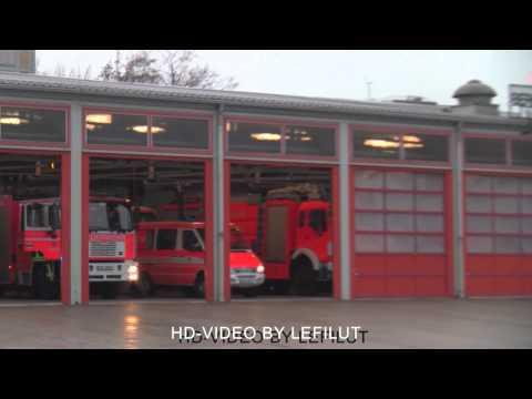 Löschzug + Alarmgong Berufsfeuerwehr Wiesbaden FW 1