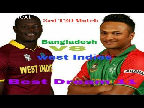 Bangladesh vs west Indies best dream 11