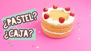 HAZ UNA CAJITA EN FORMA DE PASTEL| PASTELITO FALSO |Diy| COOKIES IN THE SKY