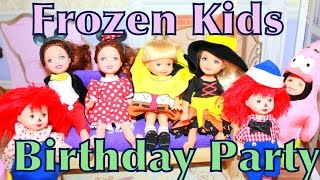 Barbie Toby Birthday Party + Frozen Anna Dresses As SpongeBob