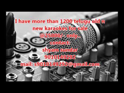 Telugu Karaoke Songs video