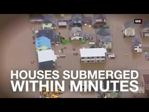 Japan flooding: 2.8 million advised to evacuate