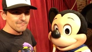 I met Mickey Mouse, and he talked to me!