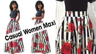 Casual Women Maxi Dresses 2018 !!