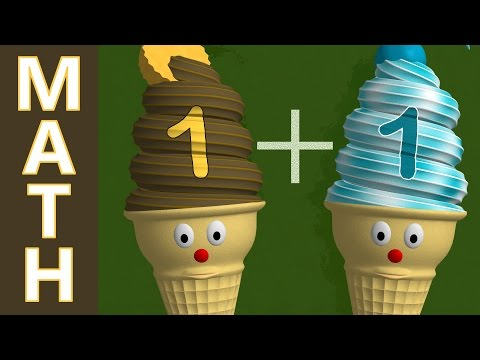 Basic Addition [+1] Learn Math with Ice Cream Cones