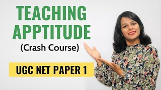 NTA UGC NET Paper 1- Teaching Aptitude (Crash Course)
