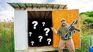 OPENING the MYSTERY SHED by My BACKYARD POND!!! (SURPRISING FIND!)